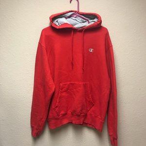 [Champion Eco] Red Hooded Sweatshirt